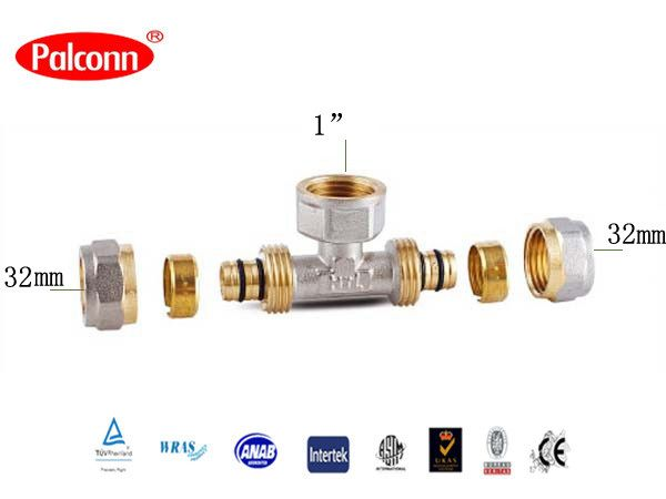 """Find More Pipe Fittings Information about 2015 New Products plastic Pipe Brass Fittings Female Reducing Tee PEX AL PEX portable water pipe  Palconn 32x1""""x32mm PL20,High Quality fitting,China fitting stove Suppliers, Cheap fittings copper from Weifang Palconn Plastics Technology Co., Ltd  on Aliexpress.com"""