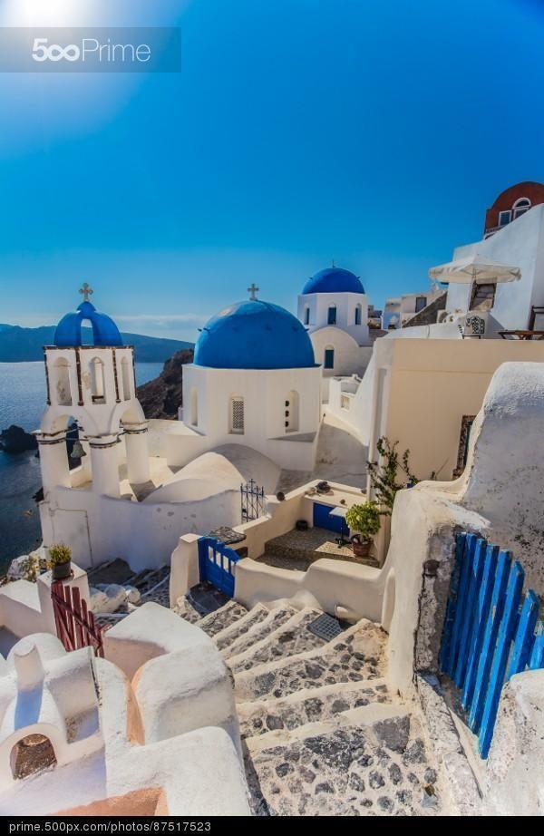 Oia Santorini - stock photo