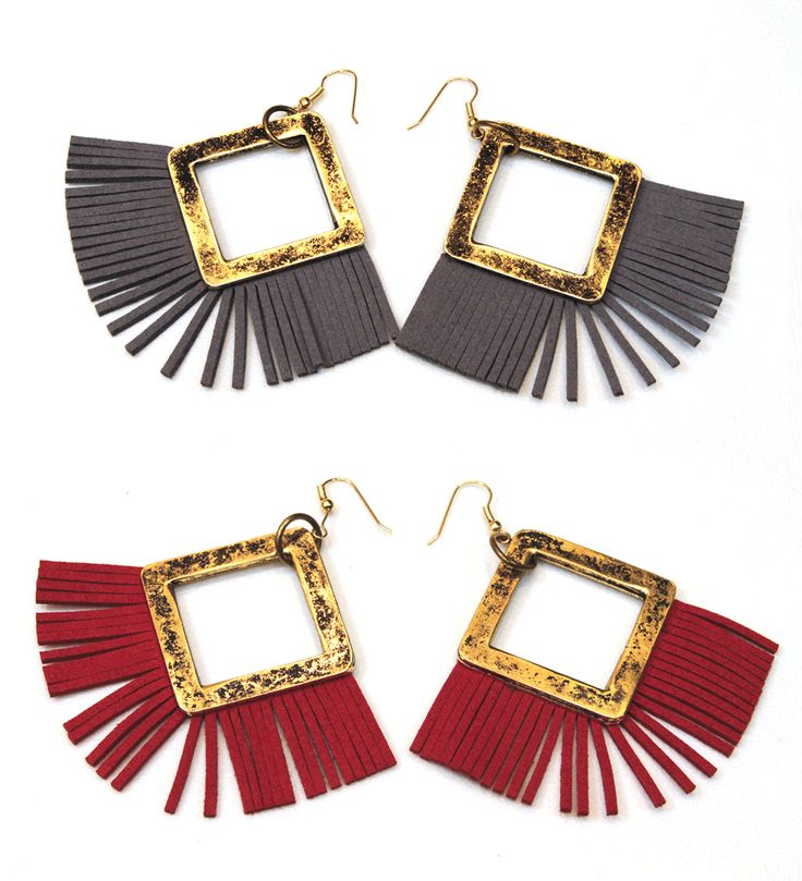 Suede Tassel Earrings by Iakwvina #earrings #iakwvina #jewelry #greek4chic