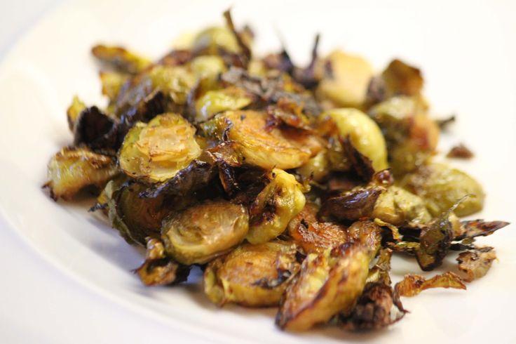 Crispy Garlic Brussels Sprouts   #justeatrealfood #paleohacks