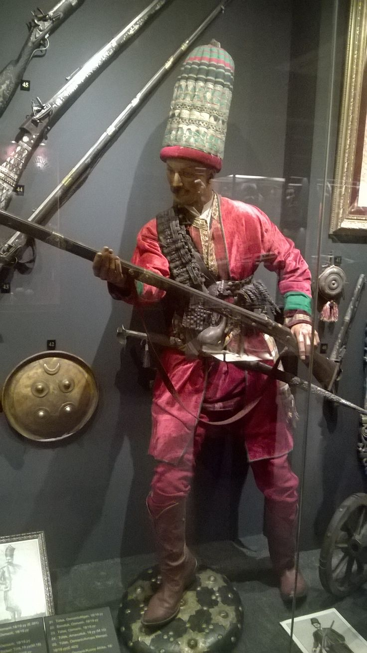 Ottoman Janissary from the Hisart museum.
