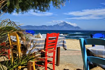#Halkidiki  end of season at #Sarti  taverna Kivotos #Greece   #VisitHalkidiki