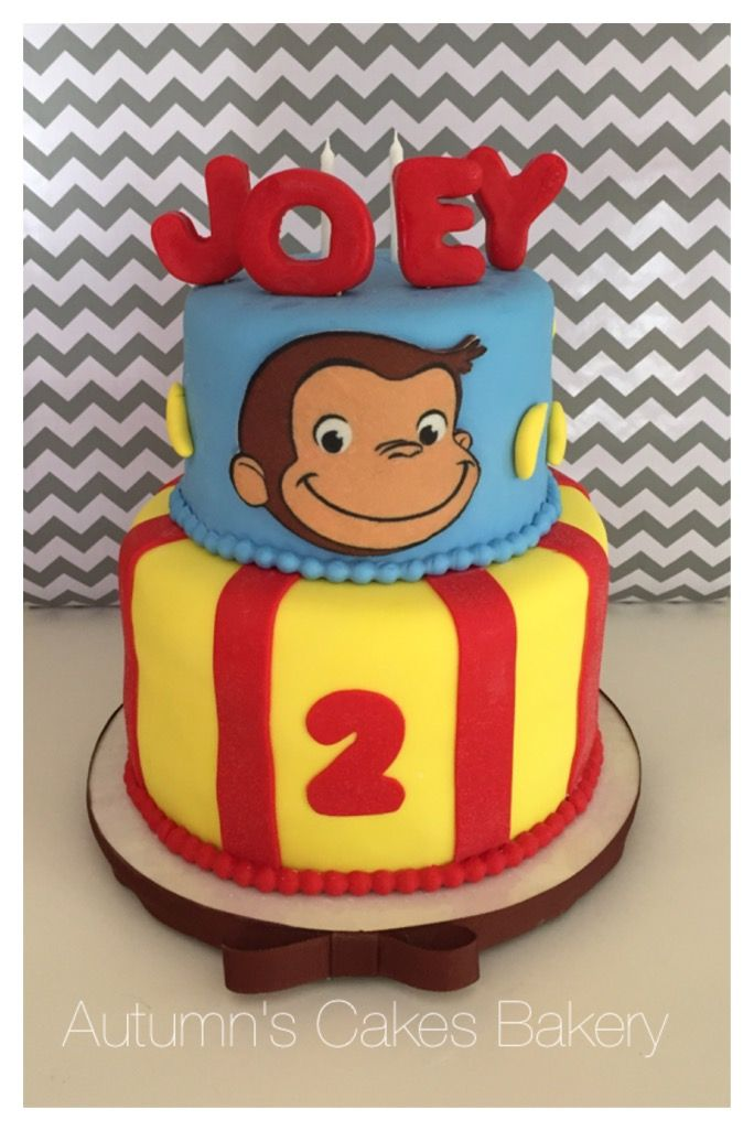 151 best jayden 39 s 3rd birthday images on pinterest for Curious george cake template