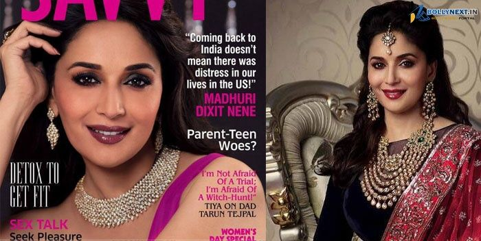 Madhuri Dixit covers Savvy March 2014 issue