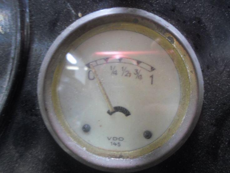 Original VDO fuel gauge shown here