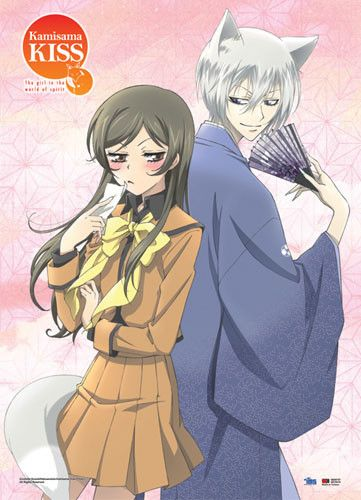 Kamisama Kiss Tomoe & Nanami Wall Scroll- Wall scrolls are a perfect decoration for any otaku room! This wall scroll made of high-quality fabric features art of Nanami, main character of the romantic comedy manga and anime series Kamisama Kiss, showing off her stubborn side with an annoyed glare and standing back-to-back to her familiar and protector Tomoe, who is gently glancing her way. The composition is sure to remind fans of the many comical quarrels these two lovebirds have found…