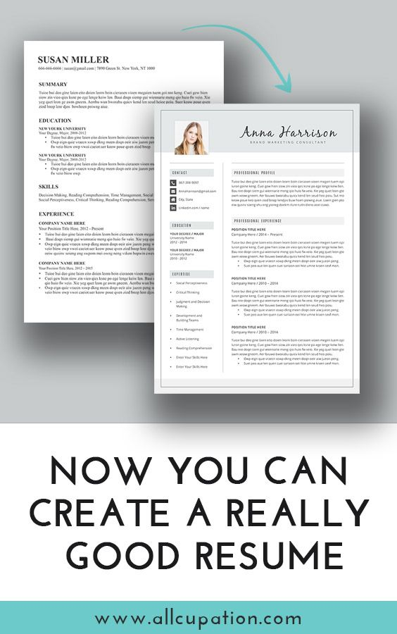 now you can create a really good resume visit www allcupation com
