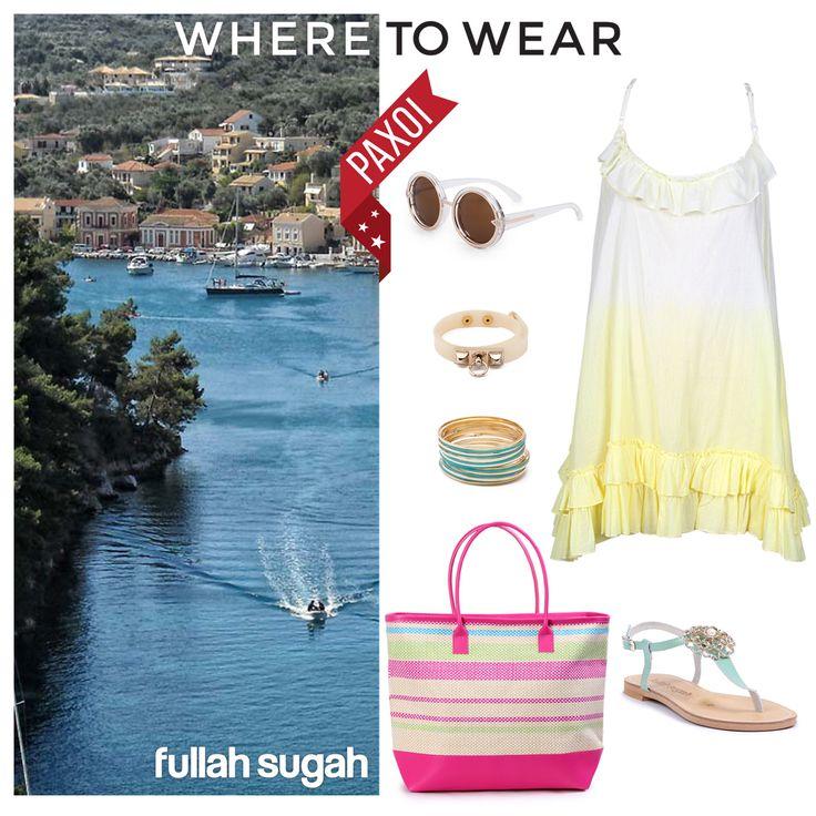 Καλοκαίρι στους Παξούς με Fullah Sugah! #sales #dress #sandals #bags #trends #style