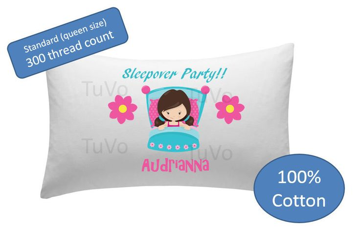 Personalized Pillowcase - sleepover party pillow case pillow cover by TulleVogue on Etsy
