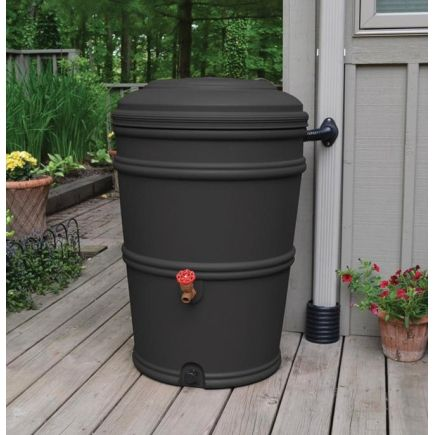 Earth Minded 45gal. Charcoal Rain Barrel - Ace Hardware