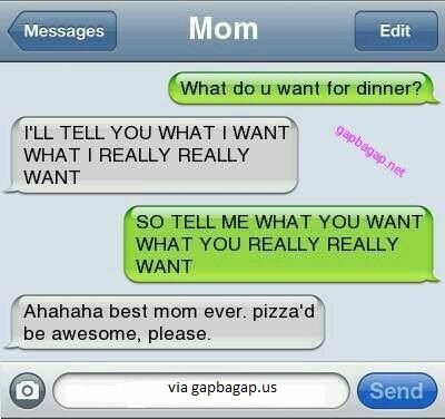 Hilarious Text Message By Mom