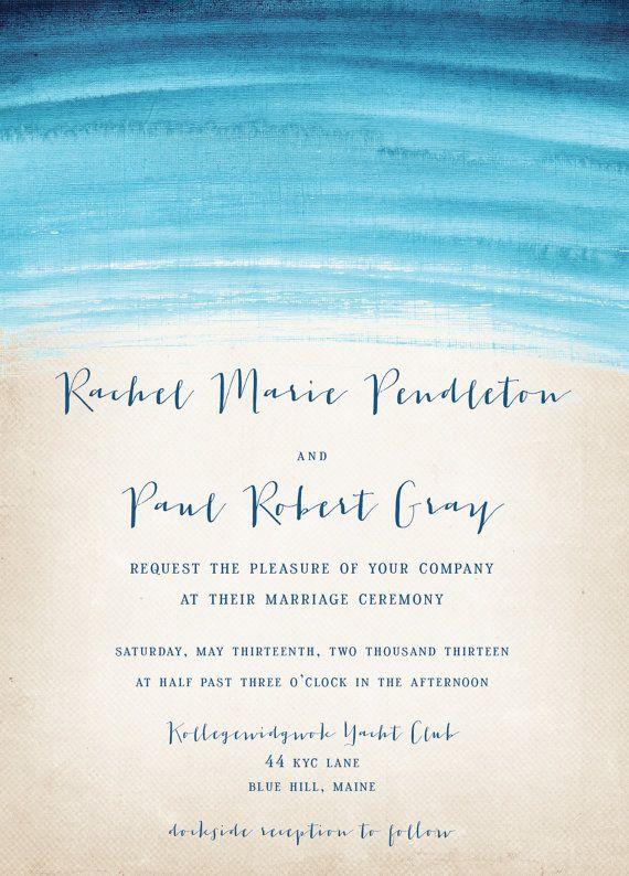 Watercolor Wedding Invitation Rustic Wedding by starboardpress