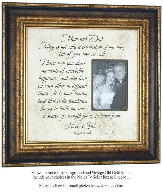 Unique Parent Wedding Gift Ideas: Personalized Wedding Gifts, Parents, Bride Groom Gift, MOM