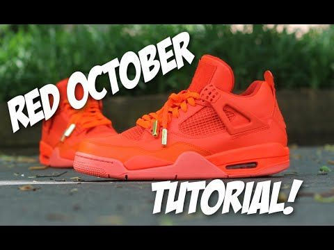 Red October Jordan 4 Custom Tutorial - YouTube