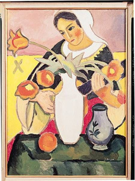 The Lute Player - August Macke