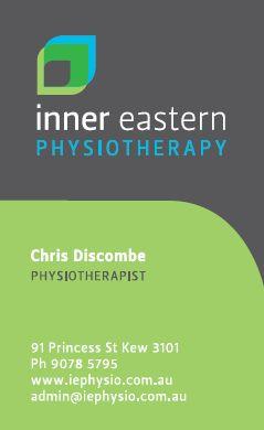 physiotherapist business card design australia - Google Search