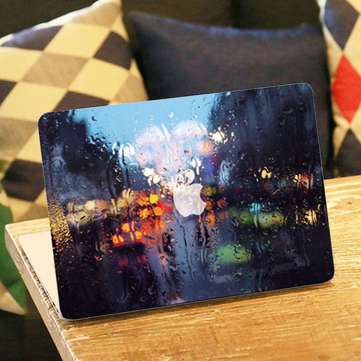 Rainy Night Scene  Positive Front Cover Vinyl Decal Laptop Sticker For Apple Macbook Air 11 11.6 Inch Laptop Sticker-in Laptop Skins from Computer & Office on Aliexpress.com | Alibaba Group