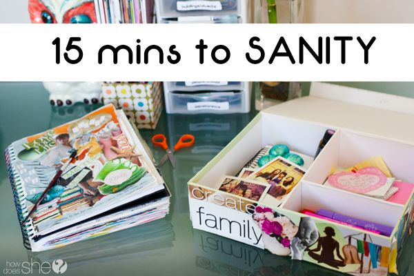 Self improvement idea. 15 Minutes to Sanity. You'll be surprised how these reflection, expression books and boxes can help you relax and be rejuvenated! Great for all ages, especially teenagers {girls}.