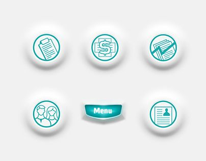 Series of icons for medical app.