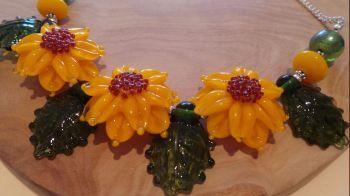 Bold Sunflower Necklace