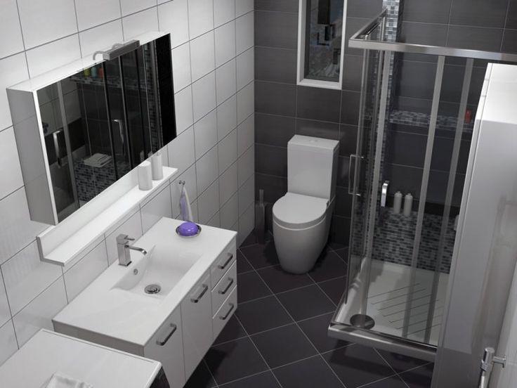 Κρεμαστό έπιπλο μπάνιου Sky-100 με μήκος 100 cm. είναι κατασκευασμένο από λευκή γυαλιστερή λάκα.