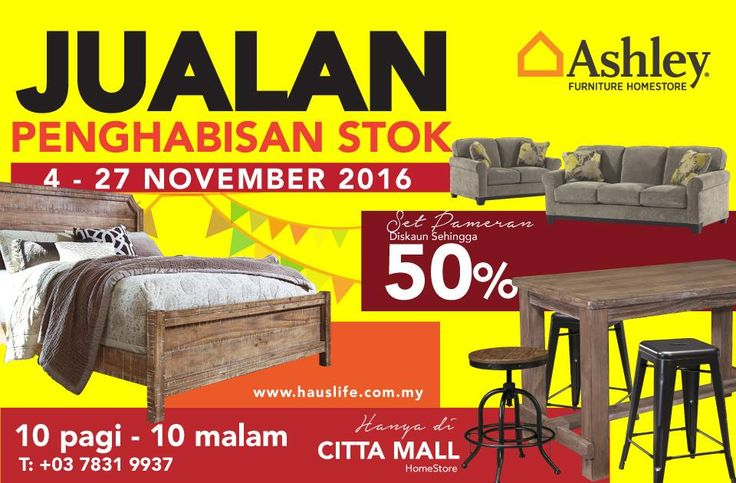 4-27 Nov 2016: Ashley Furniture HomeStore Stock Clearance Sale