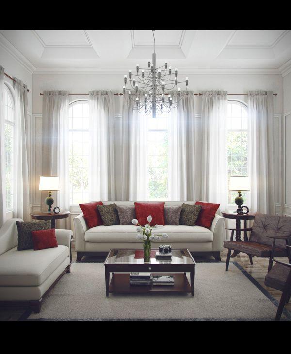 Classic Modern Living Room by Ngurah Arya, via Behance