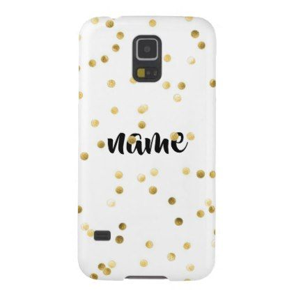 Stylish Gold Dots Custom Samsung Galaxy S5 Case - glitter gifts personalize gift ideas unique