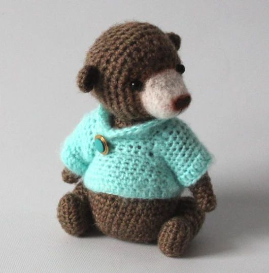 Miniaturowy Miś w sweterku | Zapomniane Zabawki