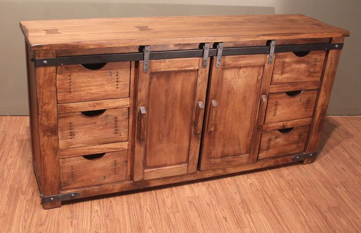 Outstanding Quality Rustic Solid Wood TV Stand Entertainment Console with sliding doors and drawers storage by RusticShop1 on Etsy https://www.etsy.com/listing/569939557/outstanding-quality-rustic-solid-wood-tv