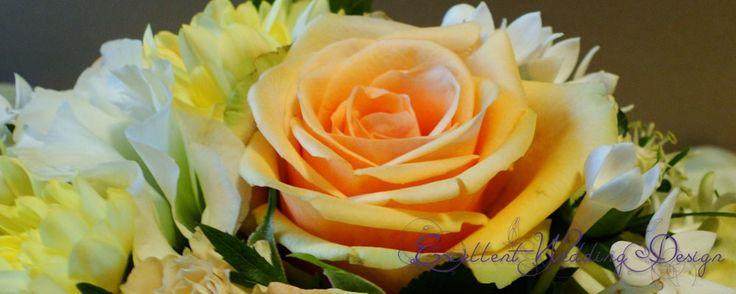 Esküvői dekoráció, barack esküvői dekoráció, virágdekoráció