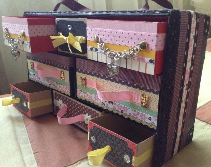 Caja de zapatos reciclada merygecreation pinterest - Manualidades con cajas ...
