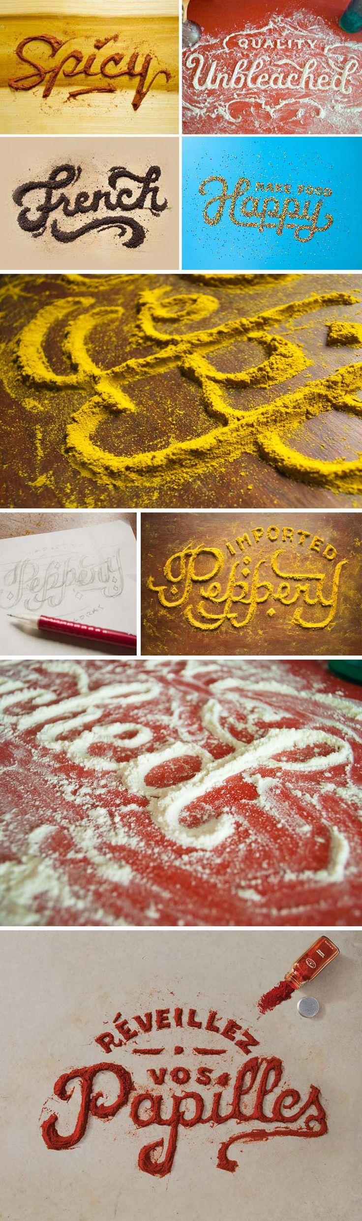 FOOD TYPOGRAPHY.