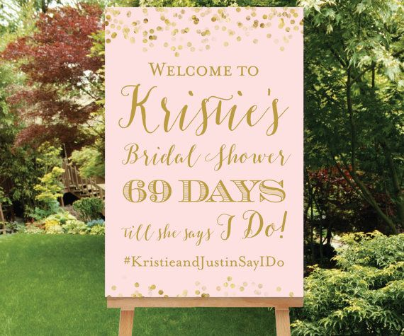 bridal shower decor sign
