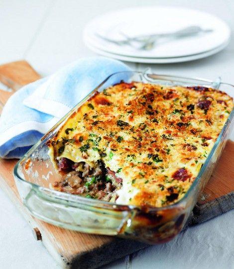 Mushroom, Parma ham and mascarpone lasagne