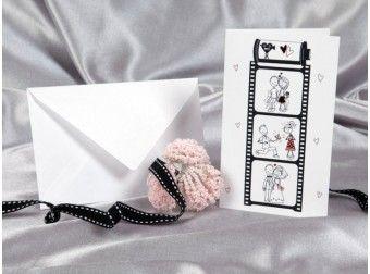 Invitatii nunta cu miri. Haioasa, simpla si ieftina :) disponibila doar pe www.mopo.ro