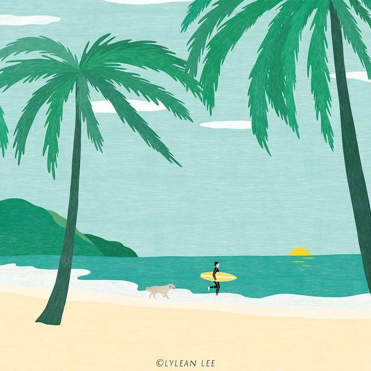 Landscape illustration by Lylean Lee