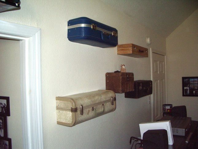 Top 25  best Suitcase shelves ideas on Pinterest | Suitcases for ...