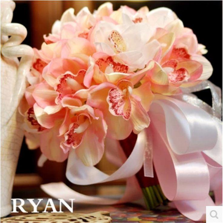 Wedding-Bouquet-de-mariage-Damigella-D-onore-Nuziale-Fiore-rosa-fiore-artificiale-orchidea-bianca-bouquet-da.jpg (1000×1000)