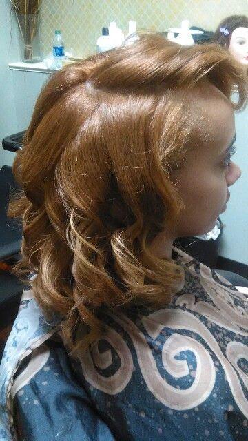 Sunburst Blonde by Ayanna Natural Hair Silk Press at Exotoc Textures Salon-Midtown Atlanta