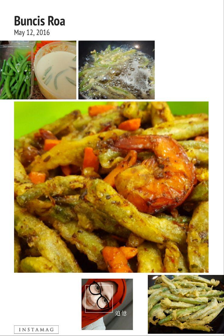 Oseng Buncis sambal Roa.. # edisi kangen oseng buncis roanya d'cost