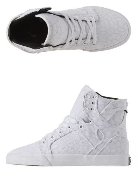 Supra  Baskets Montantes Skytop - White Cheetah White