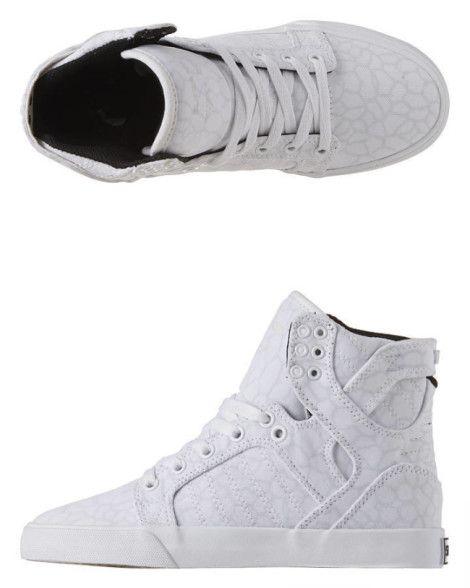 Supra  Baskets Montantes Skytop - White Cheetah White