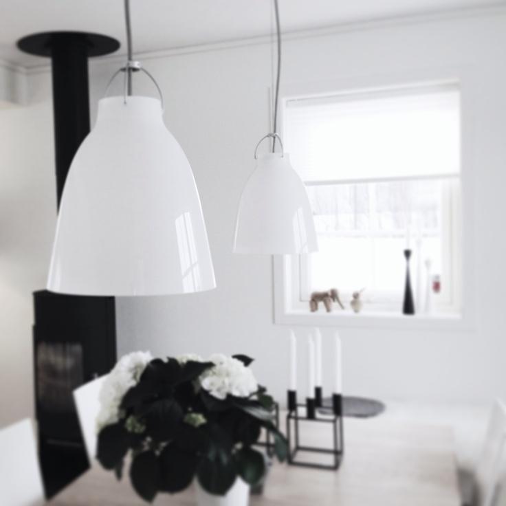 Livingroom - Caravaggio P2 pendants by Cecilie Manz, Lightyears