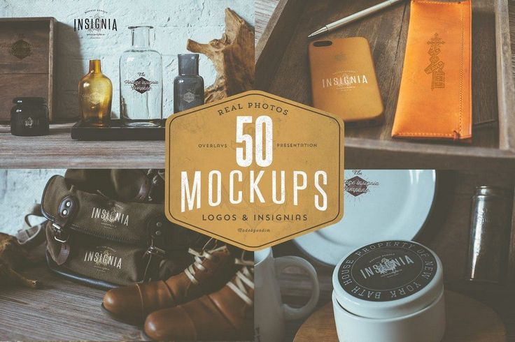 100 Logo PSD & Vector Mockup Templates