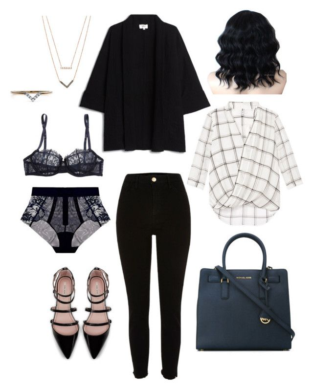 """Untitled #27"" by karleighrempel on Polyvore featuring I.D. SARRIERI, MICHAEL Michael Kors, La Perla, Michael Kors, Zara and Diamonds Unleashed"