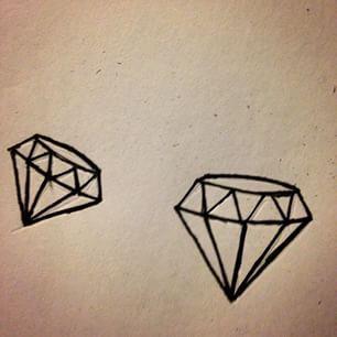 Simple Diamond Drawing Tattoo
