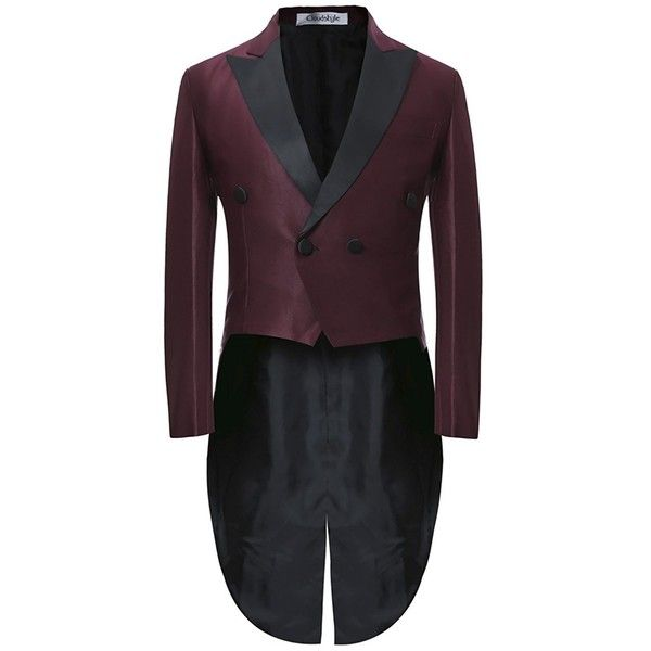 Mens Black Morning Suit Tailcoat Jacket Evening Tails Sizes XS-6XL ❤ liked on Polyvore featuring men's fashion, men's clothing, men's suits, men's apparel, mens suits, mens clothing and mens holiday suits
