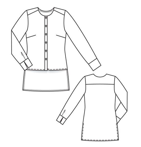 Рубашка - выкройка № 3 F из журнала 1/2013 Burda. Шить легко и быстро – выкройки рубашек на Burdastyle.ru