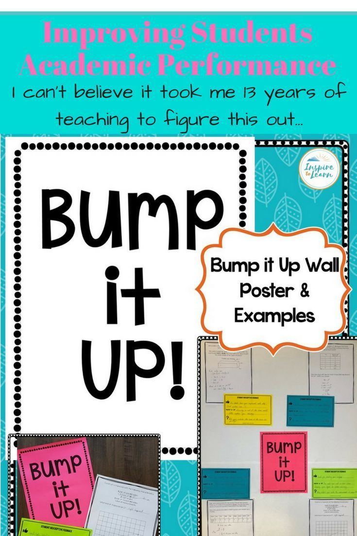 How To Use A Bump It Up Wall And Descriptive Feedback To Improve
